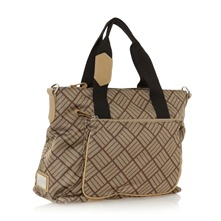 Sac cabas logotyp beige