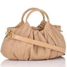 Beige Nappa Handbag
