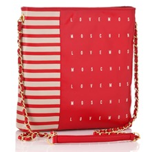 Ivory/Red Borsa Cross Body Bag