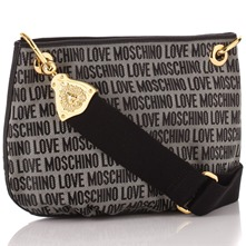Black Logo Print Jacquard Cross Body Bag