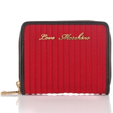 Red/Gold Branded Textured Purse