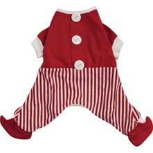 Pyjama rouge pour chiens moyens