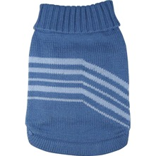 Pull bleu tricot pour chiens moyens