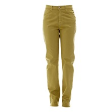Pantalon Ravissante Satin Moutarde Stretch