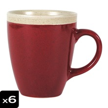 Lot de 6 Mugs Campagne Brique