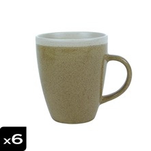 Lot de 6 Mugs Campagne Sable