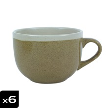 Lot de 6 Tasses Jumbo Campagne Sable