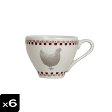 Lot de 6 tasses à thé Gallina