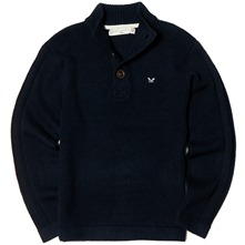 Navy Highland Wool Jumper