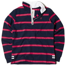 Navy/Pink Striped Seaford Sweatshirt