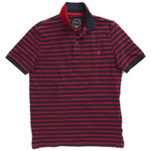 Navy/Red Striped Polo Shirt