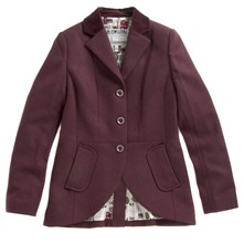 Cherry Tweed Tailored Jacket