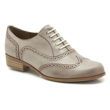 Derbies Hamble Oak en cuir gris clair