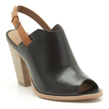 Sandales Sarina Betty en cuir noir