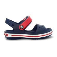 Sandales Crocband bleu marine et rouge