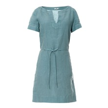 Robe Tullum en lin bleu clair