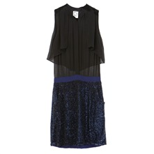 Nelia - Kleid 2 in 1 - marineblau