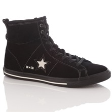 Women's Black Suede One Star High Top Trainers