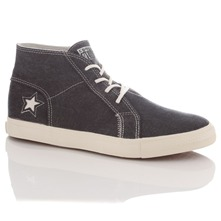 Men's Faded Black One Star High Top Trainers