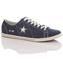 Women's Navy One Star Pro Low-Rise Trainers