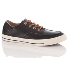Men's Black Leather All Star Classic Trainers