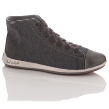 Women's Grey All Star Remix Hi Top Trainers