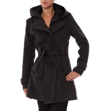 Manteau  capuche anthracite