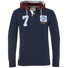 Navy Kingston Hooded Jumper