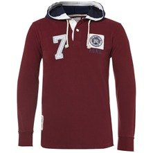 Burgundy Kingston Hooded Jumper