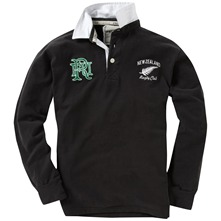 Black Kiwi Rugby Shirt