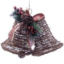 Brown Twin Liberty Bells Decoration
