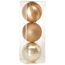 Set of Three Pearl/Gold Oyster Baubles