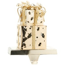 Gold Metal Two Tier Parcel Stocking Holder
