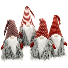 Red/Grey Cuddly Santa 75cm