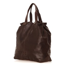 Sac week-end Eden en cuir marron fonc