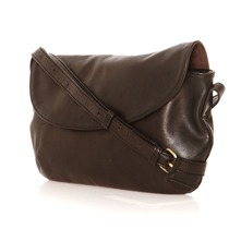 Pochette Tilly en cuir noir