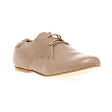 Derbies en cuir taupe