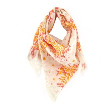 Foulard beige et orange