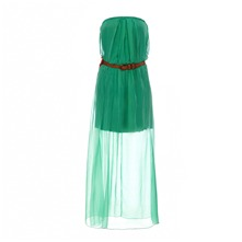 Robe bustier en soie menthe