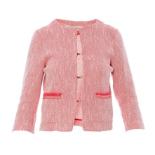 Veste tweed rose fluo