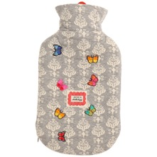 Grey Butterfly Hot Water Bottle