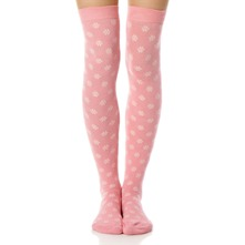 Bright Pink Rose Fleur So Nest Knee High Socks