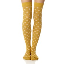 Mustard Rose Fleur So Nest Knee High Socks