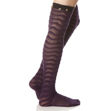 Purple/Smog Floribunda Knee High Socks