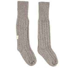 Grey Hibernate Wool Blend Bed Socks
