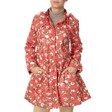 Red/Multi Cotton Print Hooded Mac