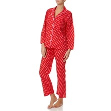 Red/White Polka Dot Cotton Pyjama Set 29