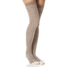 Beige Revolution Knee High Socks