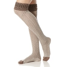 Bark/Brown Rocky Road Knee High Socks