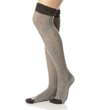 Grey/Black Rocky Road Knee High Socks